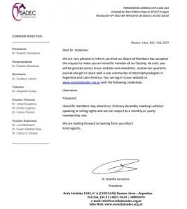 honorific member of SADEC